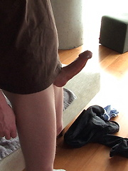 Chris King strokes his fat cock