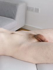 Pervert oiled fmassage for cute napped boy