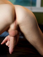 Young model Hunter Starr brings his delicious uncut cock to the table