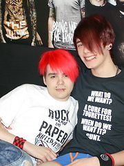 Couple of cute emo boys fucking each other