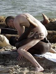 Beach-Time Fun For Mike James As He Sucks & Fucks Devon LeBron's Mammoth Black Dick!